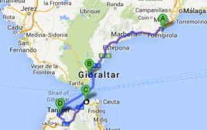 Fuengirola - Tanger: 280km