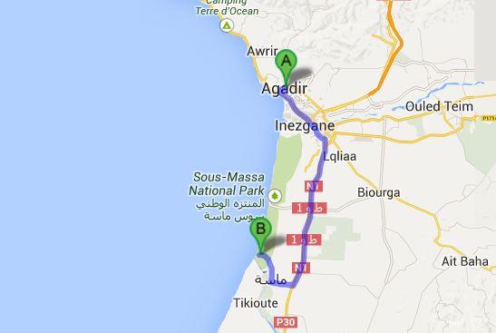Agadir - Sidi Wassay 70km